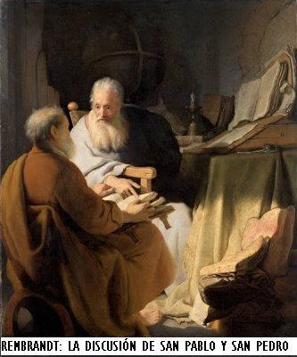 Rembrandt[1].La discusion entre San Pedro y San Pablo